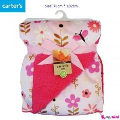 پتو گل صورتی کودک کارترز Carter's baby blanket