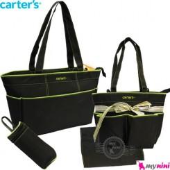 ساک لوازم نوزاد کارترز 4 تکه مشکی Carter's baby diaper bag 4pcs