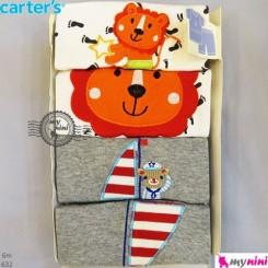 تیشرت و شلوارک کارترز 6 ماه 4 عددی Carter's short sleeve and pants
