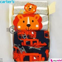 تیشرت و شلوارک کارترز 9 ماه 4 عددی Carter's short sleeve and pants