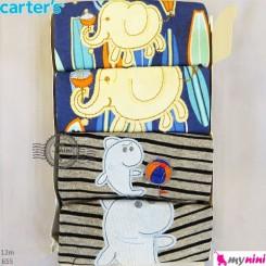 تیشرت و شلوارک کارترز 12 ماه 4 عددی Carter's short sleeve and pants