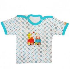 بلوز آستین کوتاه نوزاد و کودک طرح قطار به آوران Behavaran Baby Clothes