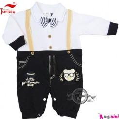 سرهمی پنبه ای نوزاد و کودک بندی ترکیه Baby cotton sleepsuit