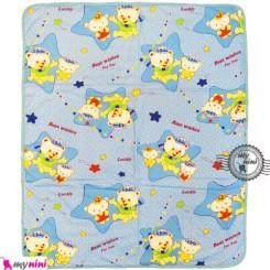 سفره و زیرانداز پارچه ای نایلونی 3 لایه بزرگ آبی Baby mat