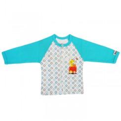 مانتو ( جلو دکمه دار ) نوزاد و کودک طرح قطار به آوران Behavaran Baby Clothes