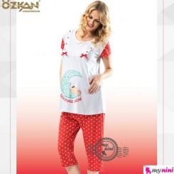 لباس بارداری و شیردهی آبی خالدار اوزکان ترکیه Ozkan Pregnancy Clothes