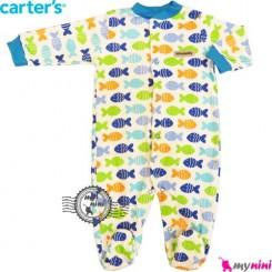 سرهمی کارترز نخی نوزاد و کودک جورابدار ماهی Carter's baby bodysuit