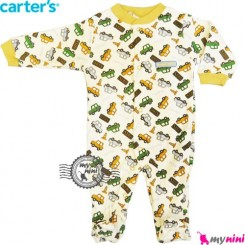سرهمی کارترز نخی نوزاد و کودک جورابدار تاکسی Carter's baby bodysuit