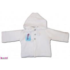 ژاکت کلاه دار دو رو بافت نوزاد و کودک