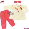 بلوز و شلوار تل دار 3 تکه ترکیه Baby shirt and pants