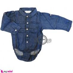 بلوز آستین بلند زیردکمه نوزاد و کودک لی Kids long sleeve bodysuit