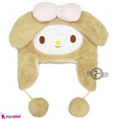 کلاه خز عروسکی گوش دار بچه نسکافه ای Baby warm hat