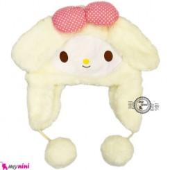 کلاه خز عروسکی گوش دار بچه شیری Baby warm hat