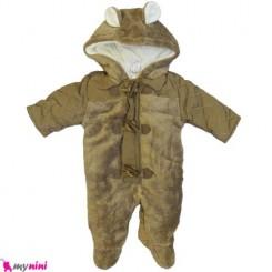 سرهمی کاپشنی نوزاد و کودک ماشی Baby warm sleepsuit
