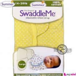 قنداق سامر نوزاد نخی زرد Summer swaddle me