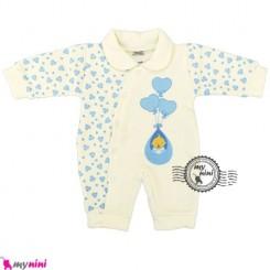 سرهمی توکُرکی نوزاد و کودک بادکنک آبی Baby warm sleepsuit