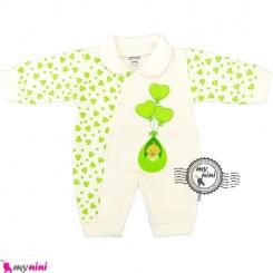 سرهمی توکُرکی نوزاد و کودک بادکنک سبز Baby warm sleepsuit