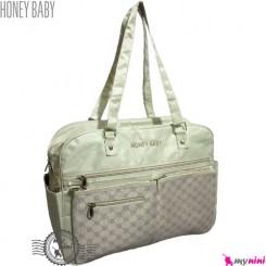 ساک لوازم نوزاد هانی بِی بی ترکیه کِرِمی جیب دار Honey baby diaper bag
