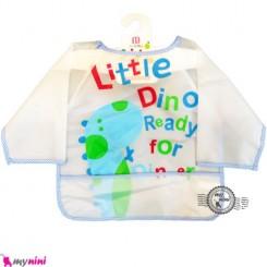 پیشبند لباسی جیب دار نایلونی دایناسور baby bib