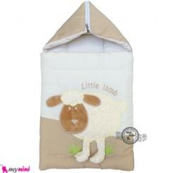 قنداق فرنگی نوزاد تترون کِرِمی گوسفند Baby Sleeping Bag