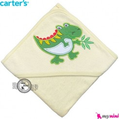 حوله کلاه دار کارترز بچه لیمویی کروکودیل Carter's hooded towel