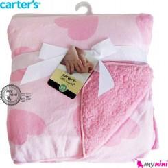 پتو کارترز دورپیچ صورتی قلب Carter's baby blanket