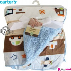 پتو کارترز دورپیچ آبی ماشین و هواپیما Carter's blanket