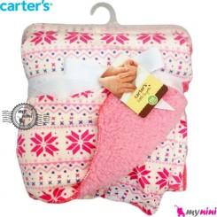 پتو کارترز دورپیچ صورتی سنتی Carter's blanket
