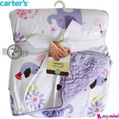 پتو کارترز دورپیچ یاسی پرنده و فیل Carter's blanket
