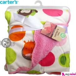 پتو خالدار صورتی نوزاد و کودک کارترز Carter's