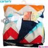 پتو دورپیچ نوزاد و کودک طوسی سُرمه ای کارترز Carters baby blanket