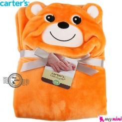 پتو کارترز کلاهدار دورپیچ نارنجی موش Carter's baby hooded blanket
