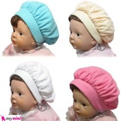 کلاه مخمل مدل فرانسوی نوزاد و کودک French model baby warm hat