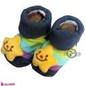 پاپوش عروسکی استُپ دار رنگارنگ ستاره Baby cute socks
