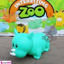 پوپت وان کرگدن سایز بزرگ Interesting zoo baby bath toys