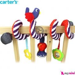 آویز تخت و کریر کارترز یاسی پرنده Carter's stroller hanging toys
