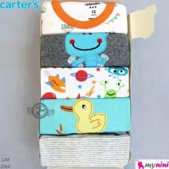 آستین کوتاه کارترز زیردکمه 12 ماه Carter's short sleeve bodysuits