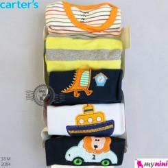آستین کوتاه کارترز زیردکمه دار 18 ماه Carter's short sleeve bodysuits