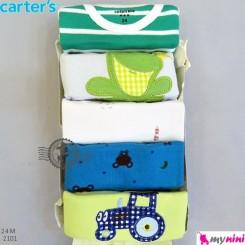 بادی آستین کوتاه کارترز 24 ماه Carter's short sleeve bodysuits
