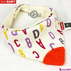 دستمال گردن دندانگیر دار حروف یاسی SKK BABY teether bib