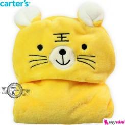 پتو کارترز کلاهدار زرد ببر Carter's baby fleece tiger blanket
