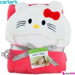 پتو کارترز کلاهدار سرخابی کیتی Carter's baby fleece tiger blanket