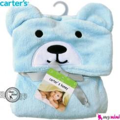 پتو کارترز کلاهدار آبی خرس Carter's baby fleece bear blanket