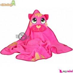 پتو اوکی داگ عروسکی صورتی گربه Okiedog Lil Pet Pals Travel Blanket