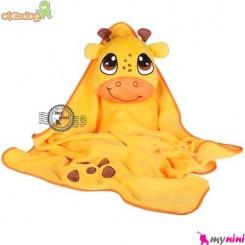 پتو اوکی داگ عروسکی زرد زرافه Okiedog Lil Pet Pals Travel Blanket
