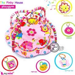 نشک بازی موزیکال نوزاد و کودک فاندِیز Fundays baby play gym the pinky house