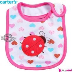 پیشبند کارترز نخی 3 لایه کفشدوزک Carter's baby bibs