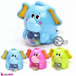 فیل موزیکال و جغجغه ای 4 کاره Cute musical elephant toys