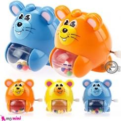 موش موزیکال و جغجغه ای 4 کاره Cute musical mouse toys