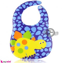 پیشبند ضد لک سُرمه ای دایناسور Baby cartoon waterproof bibs